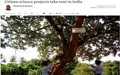 Citizen science projects take root in India
